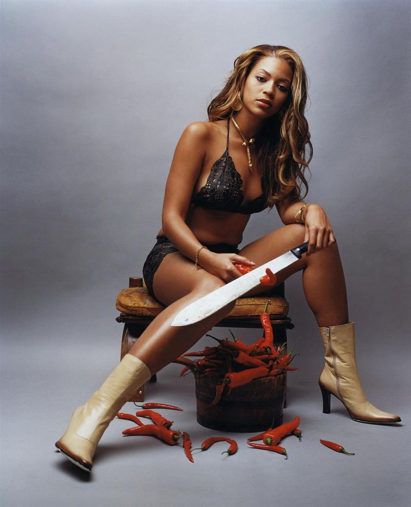 Beyoncé con un machete